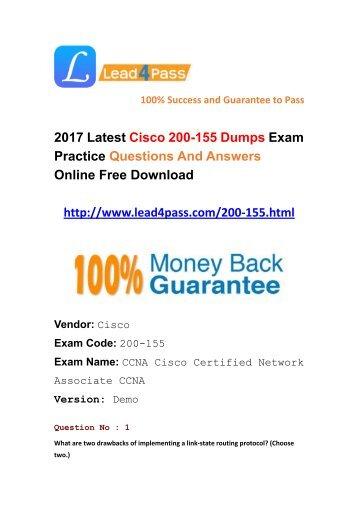 Latest Cisco 200-155 Dumps Training Materials At Lead4pass