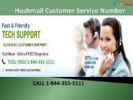 1-844-355-5111 Hushmail Customer Service Number