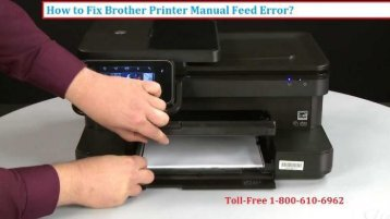 1-800-213-8289 Fix Brother Printer Manual Feed Error