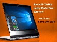 Fix Toshiba Laptop Window Error Recovery