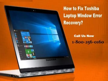 Fix Toshiba Laptop Window Error Recovery