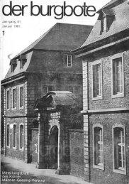 Der Burgbote 1981 (Jahrgang 61)