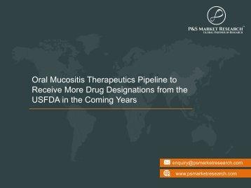 Oral Mucositis Therapeutics