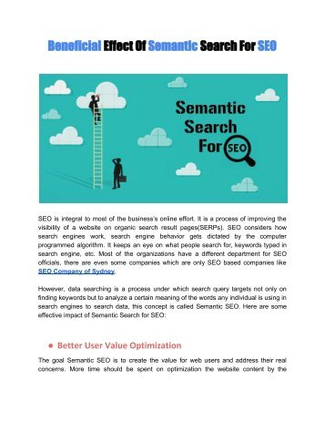 Beneficial Effect Of Semantic Search For SEO