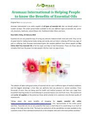 Aromaaz International is Helping People to know the Benefits of Essential Oils