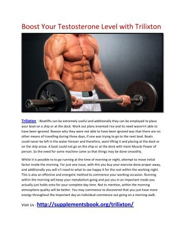 Increase Your intense workout power with Trilixton