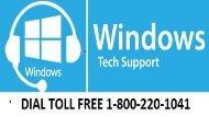 Windows Tech Support Dial 1-800-220-1041