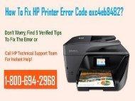 How To Fix HP Printer Error Code oxc4eb8482? 1-800-694-2968 TollFree