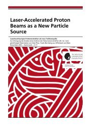 Laser-Accelerated Proton Beams as a New Particle Source - tuprints ...
