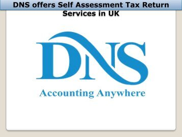 DNS offers Self Assessment Tax Return Services in UK