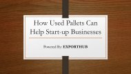 How Used Pallets Can Help Start-up Businesses