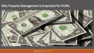 Why Property Management is Important for Profits?
