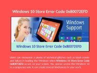 18889090535 Step to Fix Windows 10 Store Error 0x80072EFD