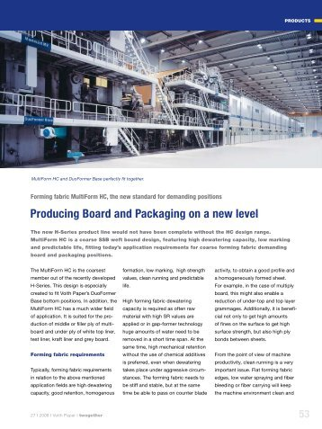 Producing Board and Packaging on a new level - Voith