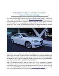 Cox Auto Service - San Diego Honest Auto Repair Shops - Brake service - Car Repair Mechanic, Near You on Miramar