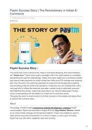 tvisha.com-Paytm Success Story  The Revolutionary in Indian E-Commerce