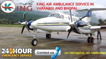 king air ambulance service in varanasi and bhopal