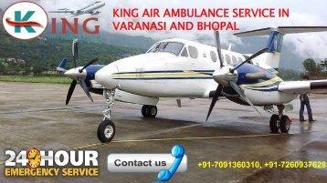 king air ambulance service in varanasi and bhopal