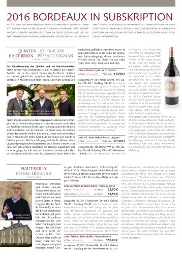Extraprima Newsletter 2018 01 – 2016 Bordeaux in Subskription