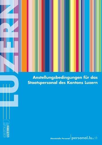 Anstellungsbedingungen für das Staatspersonal des Kantons Luzern