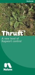 A new level of Ragwort control - Nufarm