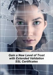 Gain a New Level of Trust with Extended Validation SSL ... - Thawte