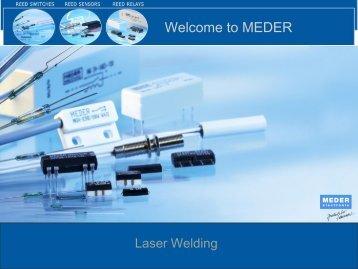 Laser welding - MEDER electronic