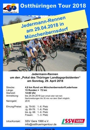 Jedermann-Rennen am 29.04.2018 in Münchenbernsdorf