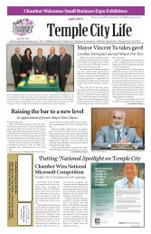 Raising the bar to a new level - Temple City Chamber of Commerce