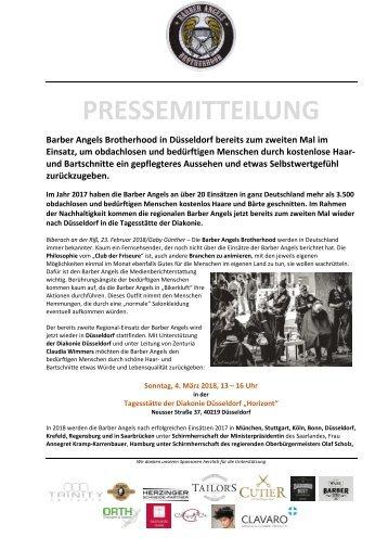 Barber Angels nachhaltig in Düsseldorf am 4. März 2018