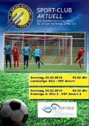 SPORT-CLUB AKTUELL - SAISON 17/18 - AUSGABE 10