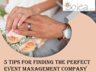 5 Tips for Finding the Perfect Event Management Company