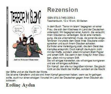 "Rezension ""Terror im Islam""  von Andrea Mohamed Hamroune"