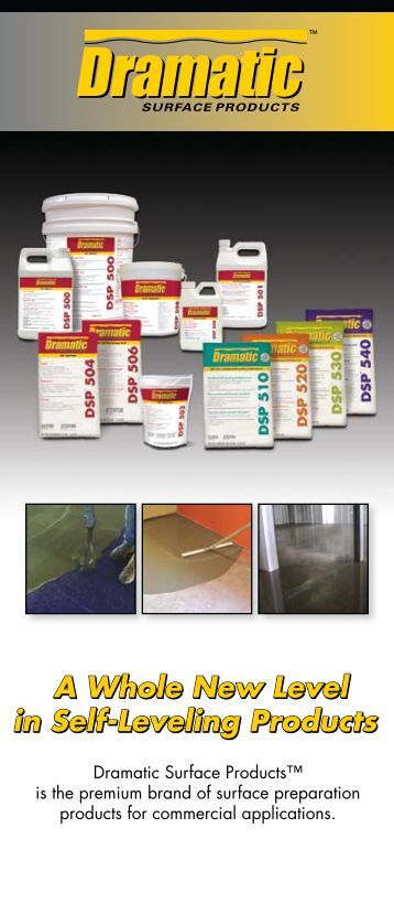 Self Leveling Products : Online self leveling brochure