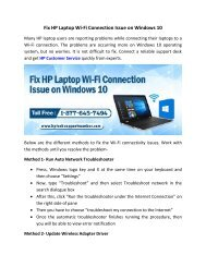 Fix HP Laptop Wi-Fi Connection Issue on Windows 10
