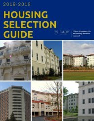 2018-2019 Housing Selection Guide