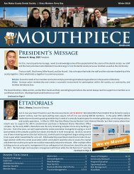 2017 Winter SMCDS Mouthpiece Newsletter