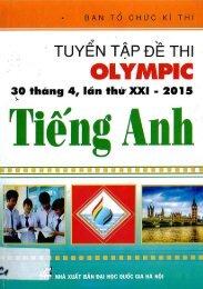 Tuyển tập đề thi olympic 30 4 môn tiếng anh 10 (2015)