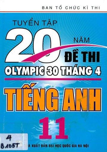 Tuyển tập 20 năm đề thi olympic 30 4 tiếng anh 11 (2014)