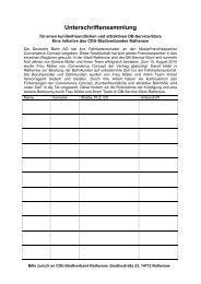 Unterschriftensammlung - CDU Kreisverband Havelland