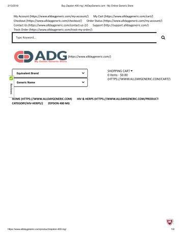 Buy Zepdon 400 mg _ AllDayGeneric.com - My Online Generic Store