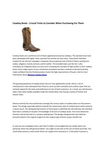 6 Western Boots