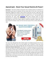 Apexatropin - Provides the Thicker, Stronger and Harder Erections