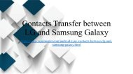 3 Methods to Transfer Contacts between Samsung Galaxy and LG Phone