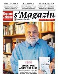 s'Magazin usm Ländle, 25. Februar 2018