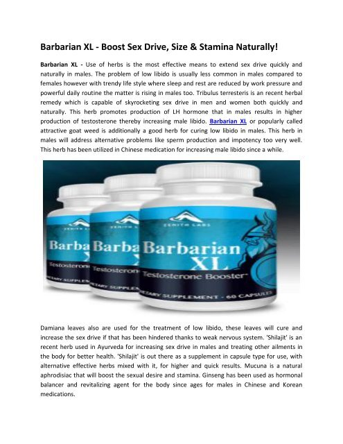 Barbarian XL - Increase Your Stamina & Performance in Gym!  Barbarian XL