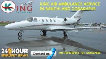 king air ambulance service in ranchi and gorakhpur