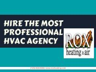 Hire the Most Professional HVAC Agency
