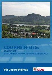 CDU RHEIN-SIEG: - CDU Fraktion Rhein-Sieg