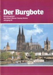 Der Burgbote 1983 (Jahrgang 63)
